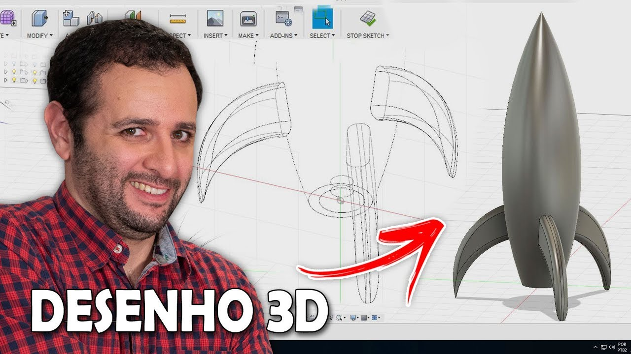 Desenhando em 3D #ManualMaker Aula 15, Vídeo 1