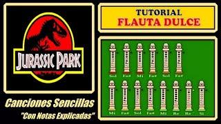 Jurassic Park Theme en Flauta Dulce