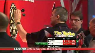 Ronnie Baxter vs Ricky Evans - PDC World Darts Championships 2014 First Round