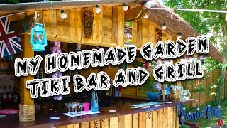 My Homemade Garden Tiki Bar and Grill Made from Wooden Pallets 🌞🍹🍺🍔🍗