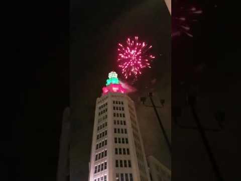 New years 2017 Buffalo, NY electric tower