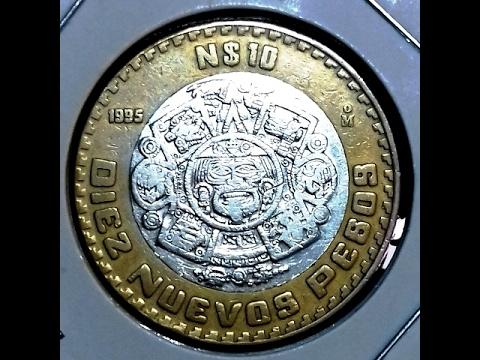 PRECIO DE MONEDAS, 10 nuevos pesos 1995