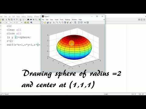 Sphere Of Different Radius And Center In Matlab