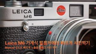 라이카 M6 기계식 필름카메라 빠르게 찍는 노하우?