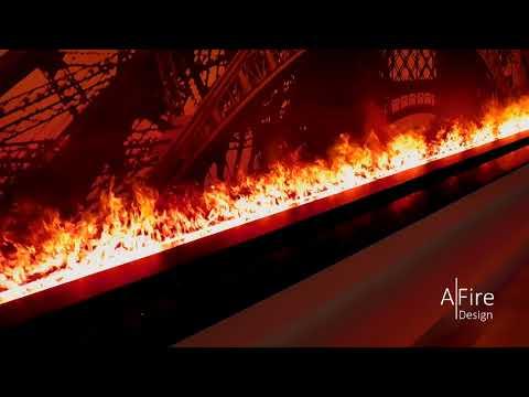 Chimenea de vapor de agua AFIRE   Insert electrica 3D con llamas frías en colores ajustables