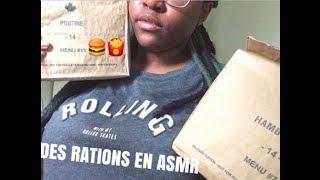 Rations militaire armée canadienne/MRE Canadian army ASMR (Français)