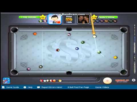 Being a 8 ball pool master :D