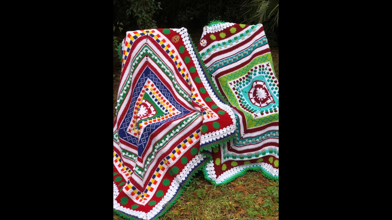"c5538327f Week 3- ""Ugly Christmas Sweater"" Blanket CAL- Argyle - YouTube"