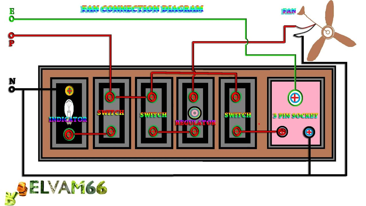 ceiling fan wiring diagram with regulator 2007 honda odyssey belt connection how to connect