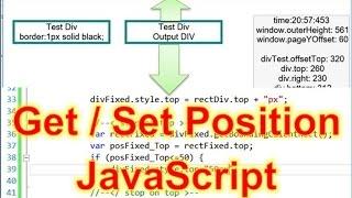 JS #04: Get and Set Position Of HTML Elements Div Javascript