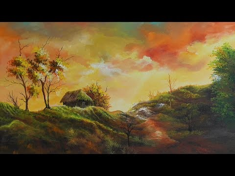 Harmony of colours |acrylic landscape painting|  paint with joy  27