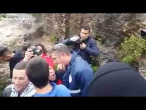 Israeli  attack Palestinians and journalist in Nabi Saleh Village.