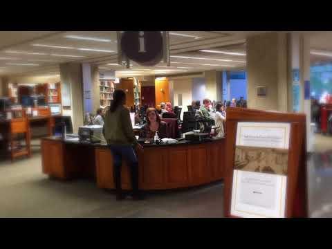 An Impression of the Van Pelt Library Information Desk - University of Pennsylvania Libraries
