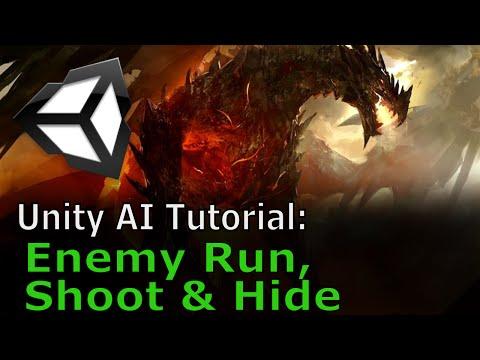 Enemy Shoot, Run and Hide | Unity AI Tutorial