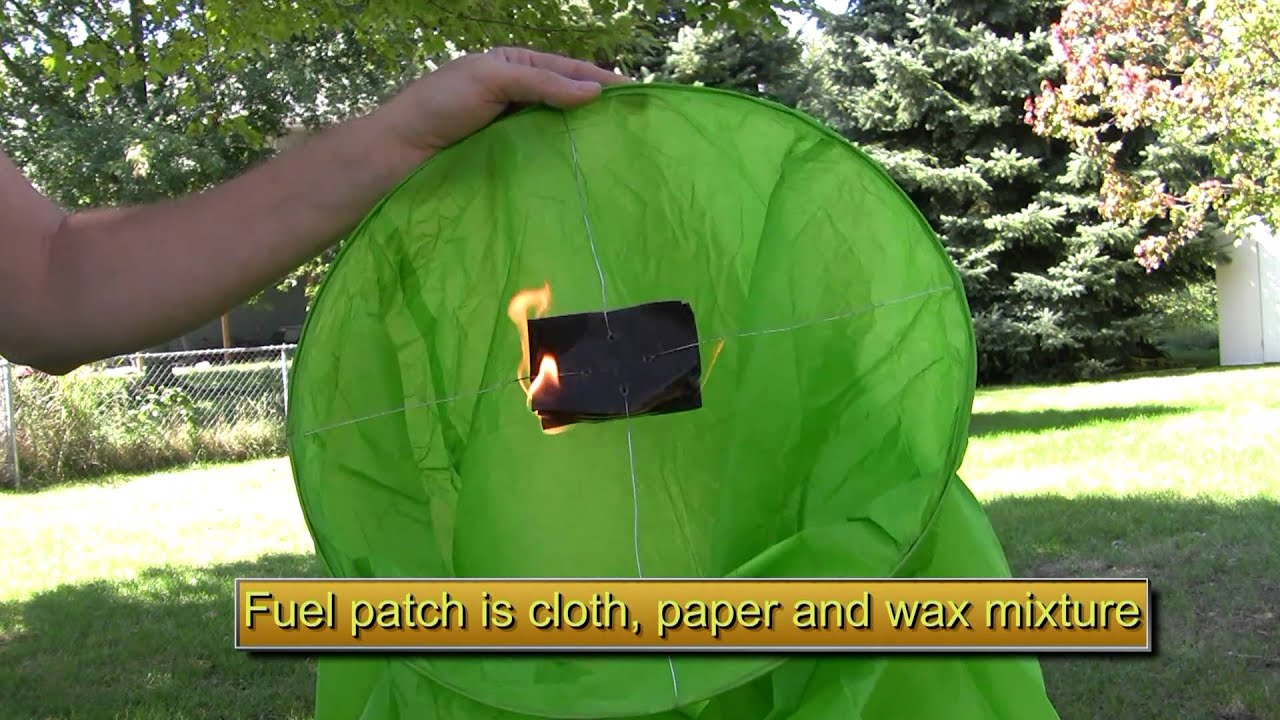 how to make a sky lantern out of newspaper