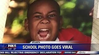 Gambar cover Atlanta kindergartner's school photo goes viral