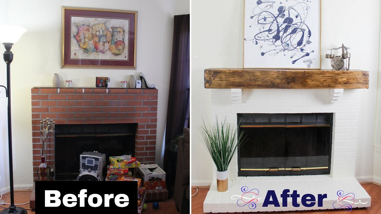 Fireplace Beam Mantel Build A Diy Faux Rustic Beam Mantel Floating Shelf