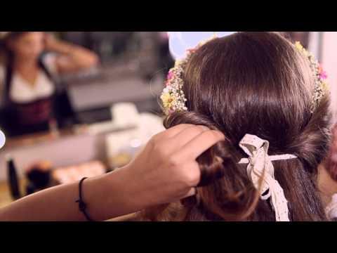 Romantische Frisur Mit Blumenkranz Dirndl Frisuren Mit Dem Schonen