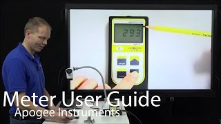 This how-to video covers operations for Apogee Instruments handheld...
