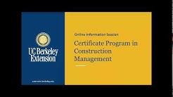 Certificate Program in Construction Management