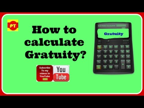 How to calculate Gratuity (created by Puneet Tutorial)