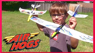 Air Hogs - Zip Wing and RIP Force Glider Airplane Review and Outside Play