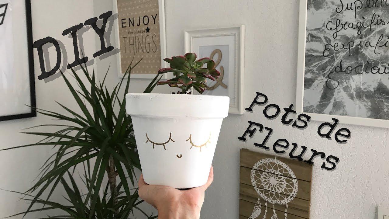 Diy 5 Pots De Fleurs Youtube