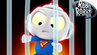 SUPERHERO PRISON | Preschool Learning Videos | Rob The Robot