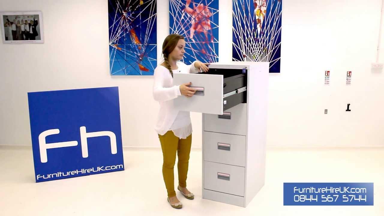 4 Drawer Filing Cabinet Demo - Furniture Hire UK