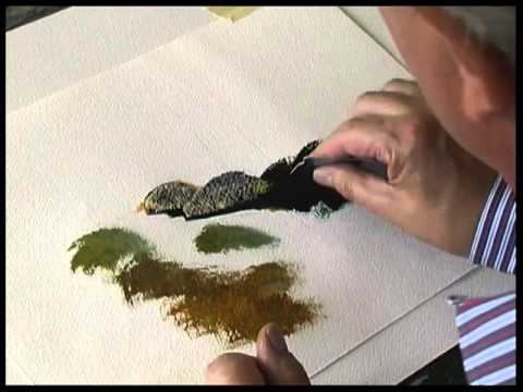 Terry Harrison painting rocks in watercolour  YouTube