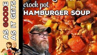 Crock Pot Hamburger Soup