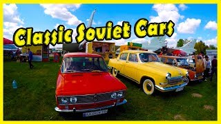 Best Car Show 2018. Classic and Old Soviet Cars and Vehicles. Coolest Motor Show 2018