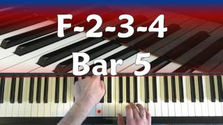 12 Bar Blues For Total Beginners - FREE Piano / Keyboard Tutorial - (Basic Level)