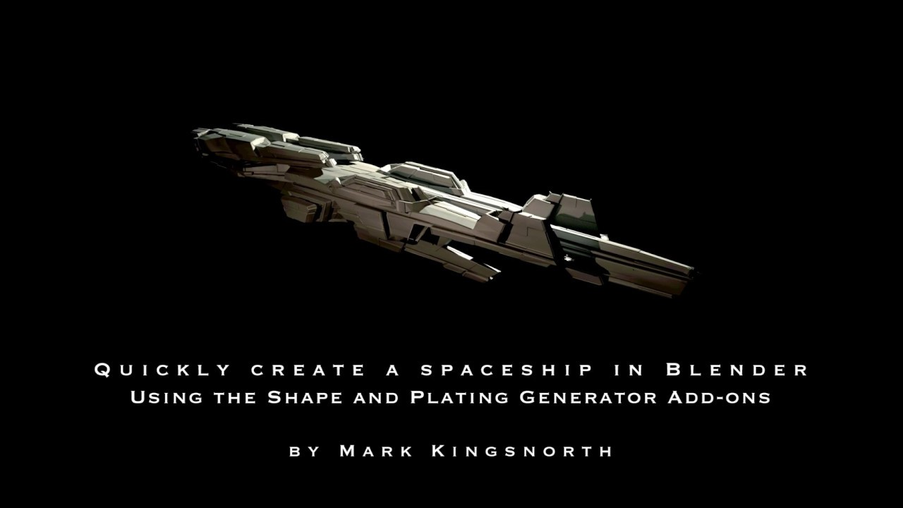 How to Create a Spaceship on Blender using Shape and Plating Add-ons