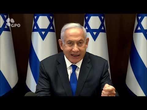 ראש הממשלה בנימין נתניהו בפתח ישיבת קבינט הקורונה