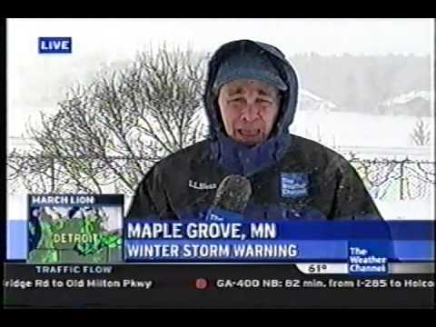 Mike Seidel The Weather Channel Maple Grove, MN Snowstorm 12-23-2009 ...