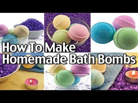 How To Make Homemade Bath Bombs - Easy Bath Bombs Recipe