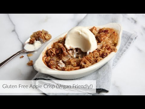 Gluten Free Apple Crisp | lightened up & vegan friendly!