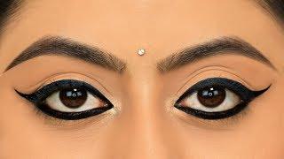 दोनों आखों में एक सा Wing Eyeliner कैसे लगाएं - New TRICK To Apply Perfect Winged Eyeliner   Anaysa