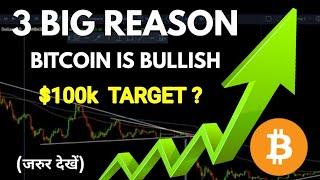 (Hindi) Why Bitcoin is Bullish ! 3 major reasons for Big hype