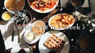What I Eat In a Week (vegan + winter edition)