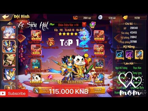 OMG 3Q VNG : Review Tốp 1 Sever 138 Với 115.000 KNB Max Nhiều Cùng Chân Triệu Vân Phá Đảo Sever