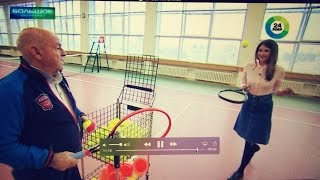 Уроки тенниса! ТЕННИС БОЛЬШОЙ И БОЛЬШОЕ ИНТЕРВЬЮ :) Владимир Камельзон!