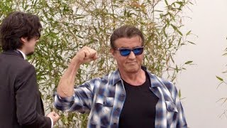 Sylvester Stallone at Rambo photocall in Cannes
