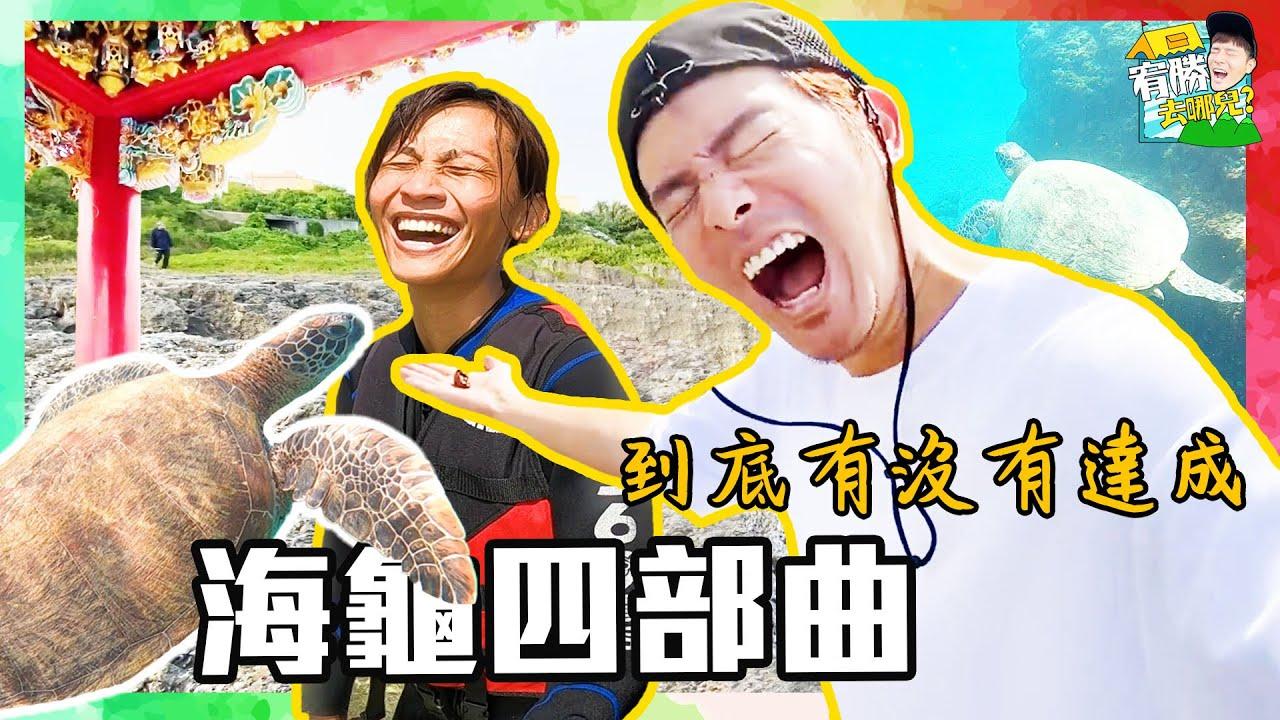 驚叫連連的海龜四部曲!教練嚇到逃離小琉球真的太誇張了|車居人生#26 #VanLife【宥勝去哪兒】