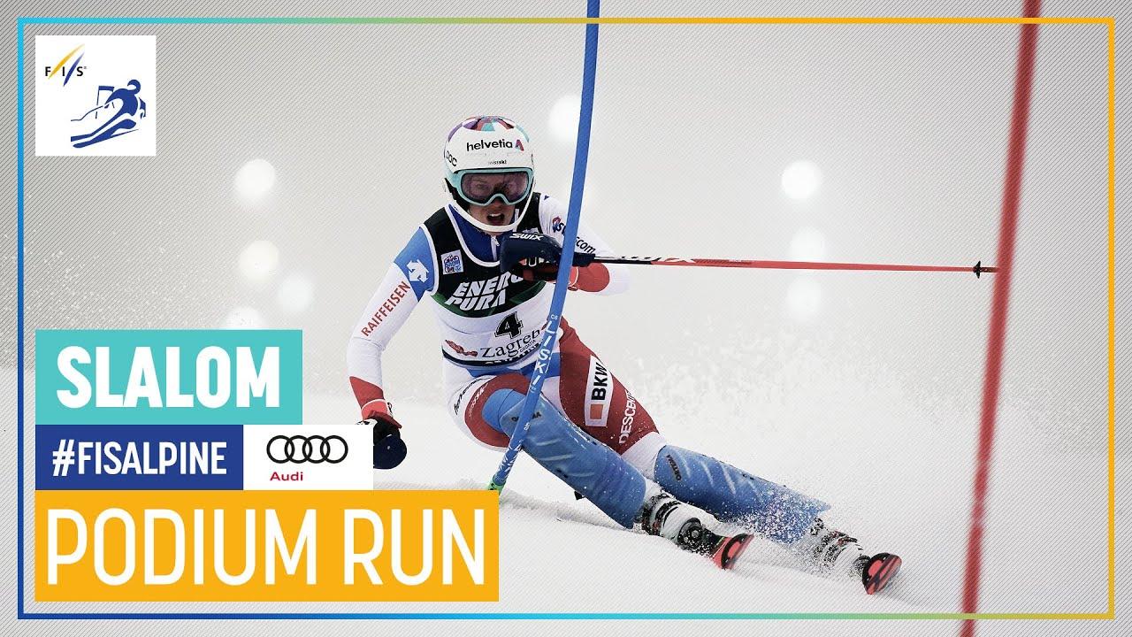 Michelle Gisin 3rd Place Zagreb Women S Slalom Fis Alpine Youtube