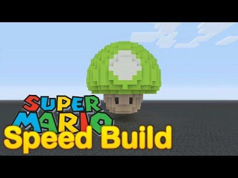 Minecraft - Mario 1-UP mushroom - Speed build!