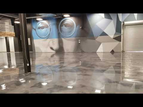 Check Out This Luxury Grey Metallic Epoxy Floor! - Satin Finish Concrete