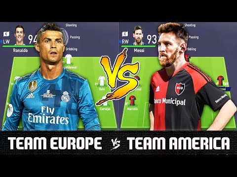Team Europe VS Team America - FIFA 18 Experiment