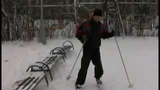 Передвижение на лыжах - Попеременный одношажный ход